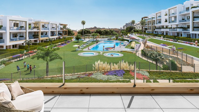 New apartment with garden in a gated community with pool - 8