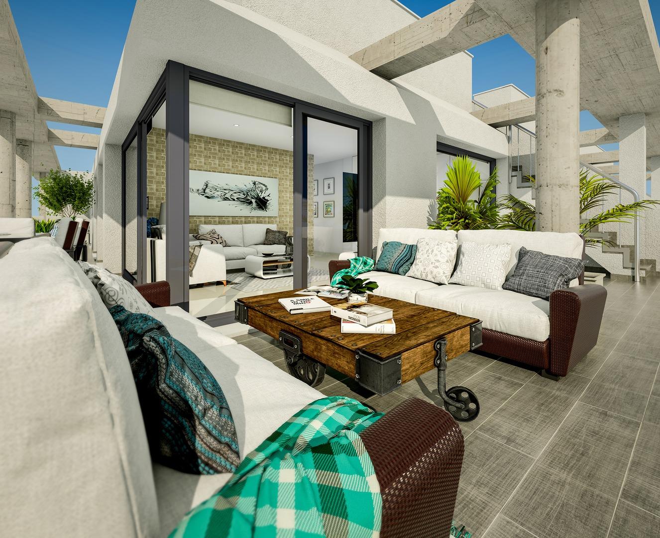 Spacious sunny apartments with terrace and solarium - AM1537